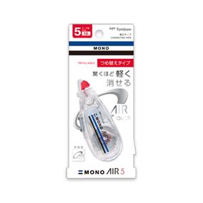 【ココデカウ楽天市場店限定】修正テープ モノエアー5 つめ替えタイプ 本体 5mm/CT-CAX5