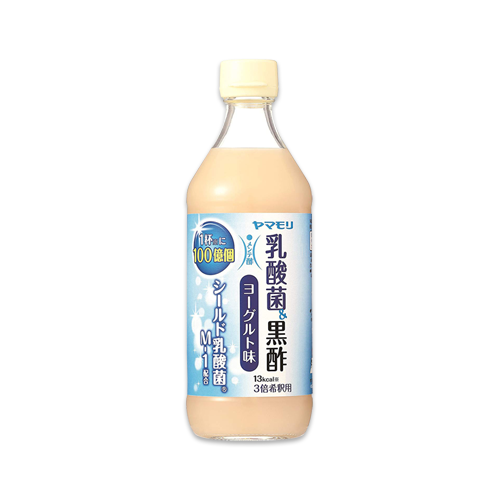 【Amazon.co.jp限定】ヤマモリ 乳酸菌黒酢 ヨーグルト味 500ml×2本